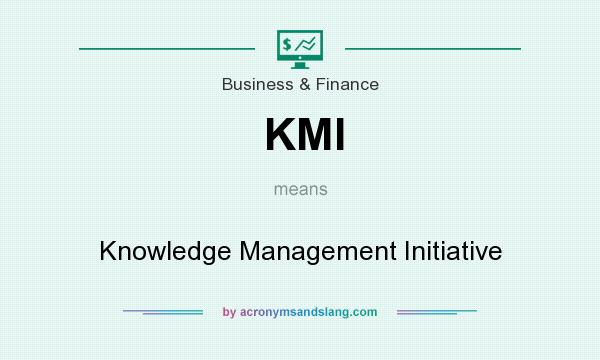 What does KMI mean? It stands for Knowledge Management Initiative