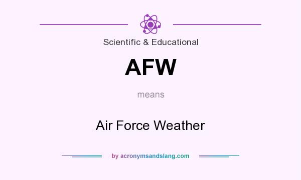 What does AFW mean? It stands for Air Force Weather