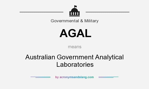What does AGAL mean? It stands for Australian Government Analytical Laboratories