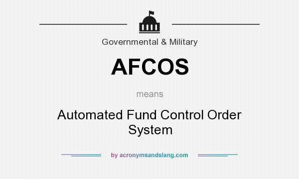 AFCOS - Automated Fund Control Order System in Government ...