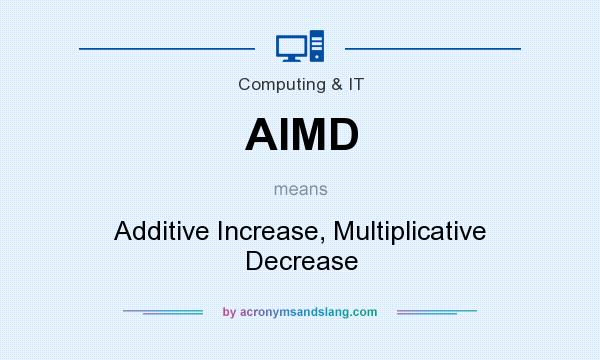 What does AIMD mean? It stands for Additive Increase, Multiplicative Decrease