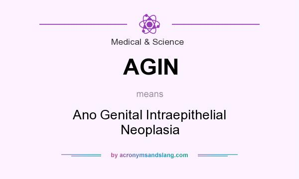 What does AGIN mean? It stands for Ano Genital Intraepithelial Neoplasia