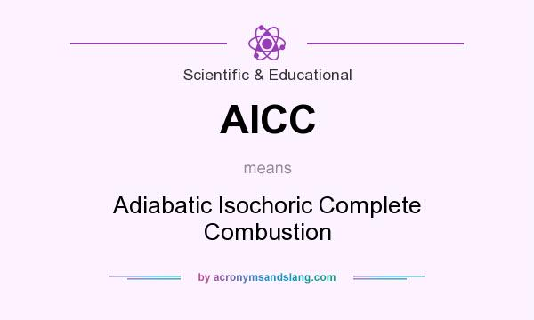 What does AICC mean? It stands for Adiabatic Isochoric Complete Combustion