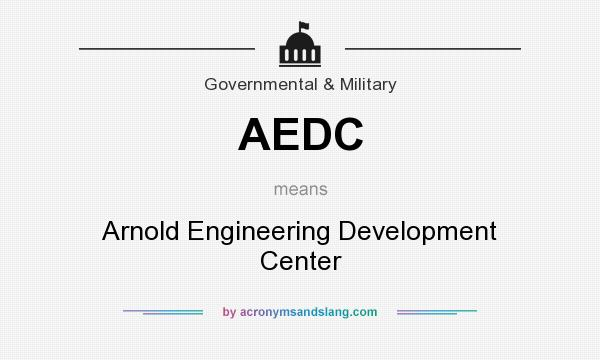 What does AEDC mean? It stands for Arnold Engineering Development Center