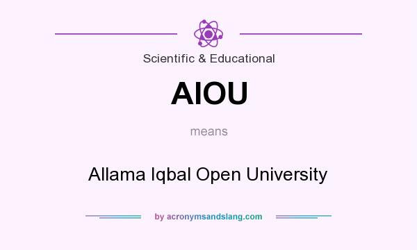 What does AIOU mean? It stands for Allama Iqbal Open University