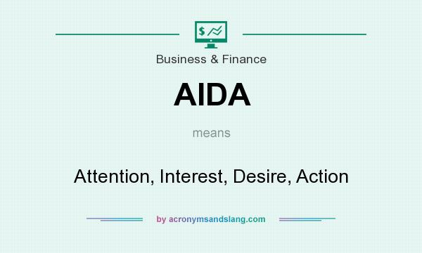 What does AIDA mean? It stands for Attention, Interest, Desire, Action