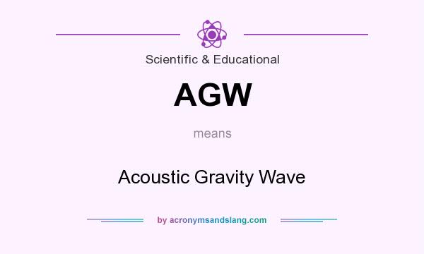 What does AGW mean? It stands for Acoustic Gravity Wave