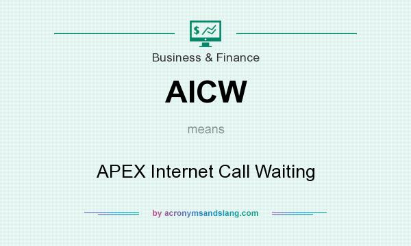 What does AICW mean? It stands for APEX Internet Call Waiting