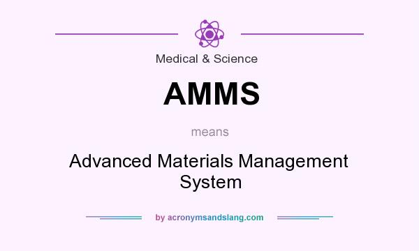 What does AMMS mean? It stands for Advanced Materials Management System
