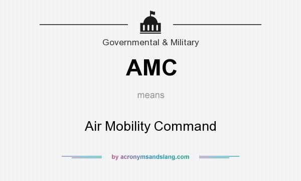 What does AMC mean? It stands for Air Mobility Command
