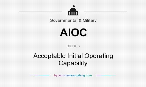 What does AIOC mean? It stands for Acceptable Initial Operating Capability