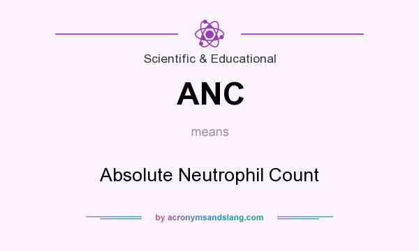 What does ANC mean? It stands for Absolute Neutrophil Count