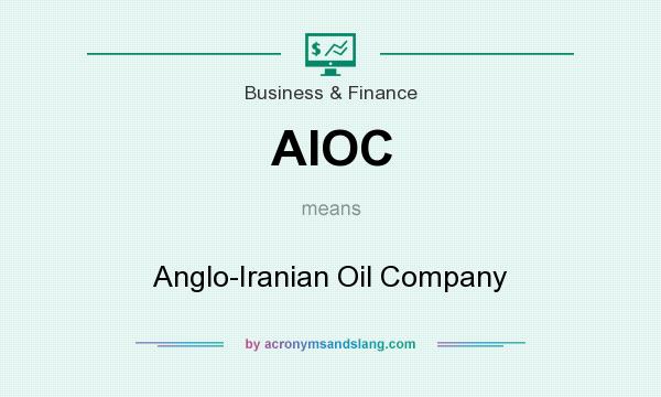 What does AIOC mean? It stands for Anglo-Iranian Oil Company