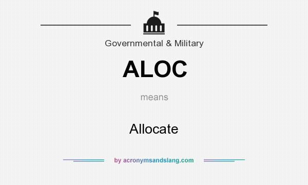 What does ALOC mean? It stands for Allocate