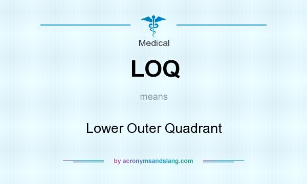 What does LOQ mean? It stands for Lower Outer Quadrant
