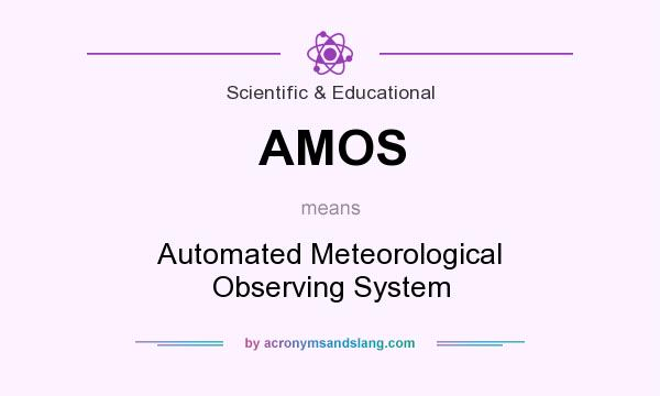 What does AMOS mean? It stands for Automated Meteorological Observing System