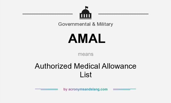 AMAL - Authorized Medical Allowance List in Governmental