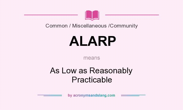 What does ALARP mean? It stands for As Low as Reasonably Practicable