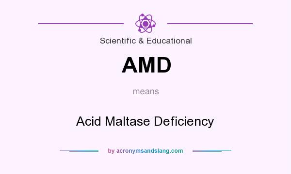 What does AMD mean? It stands for Acid Maltase Deficiency