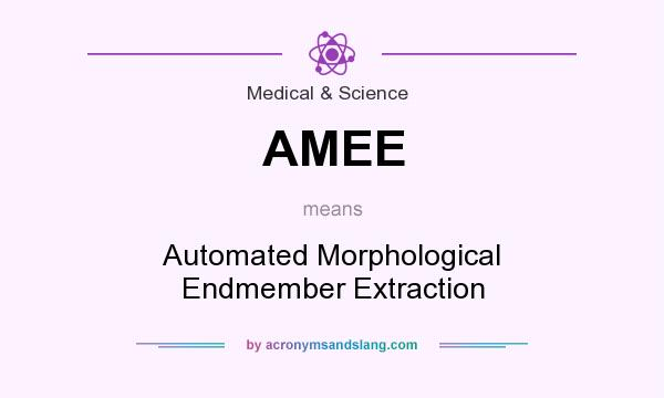 What does AMEE mean? It stands for Automated Morphological Endmember Extraction