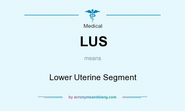 What does LUS mean? It stands for Lower Uterine Segment