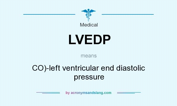 What does LVEDP mean? It stands for CO)-left ventricular end diastolic pressure