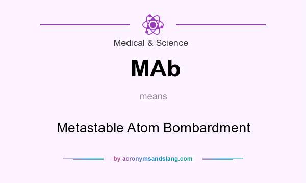 What does MAb mean? It stands for Metastable Atom Bombardment