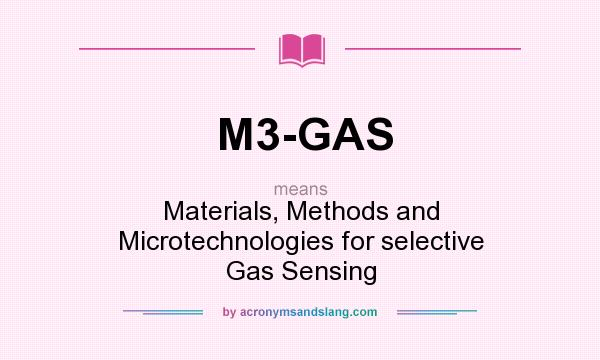 What does M3-GAS mean? It stands for Materials, Methods and Microtechnologies for selective Gas Sensing