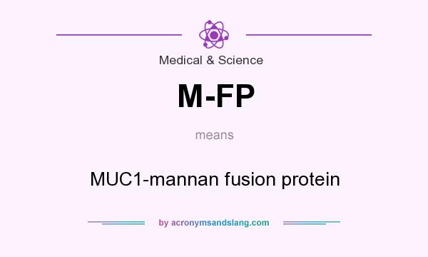 What does M-FP mean? It stands for MUC1-mannan fusion protein