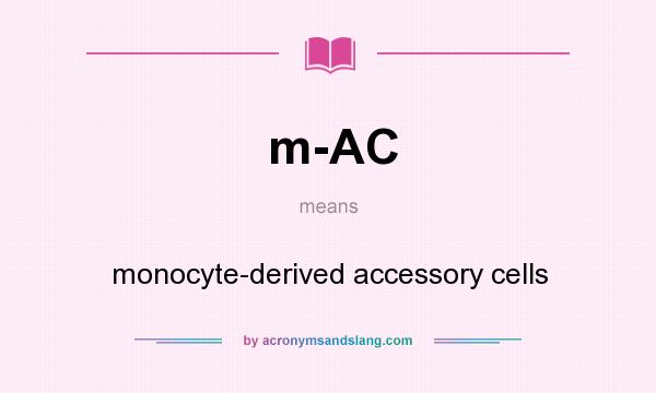 What does m-AC mean? It stands for monocyte-derived accessory cells