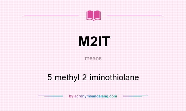 What does M2IT mean? It stands for 5-methyl-2-iminothiolane