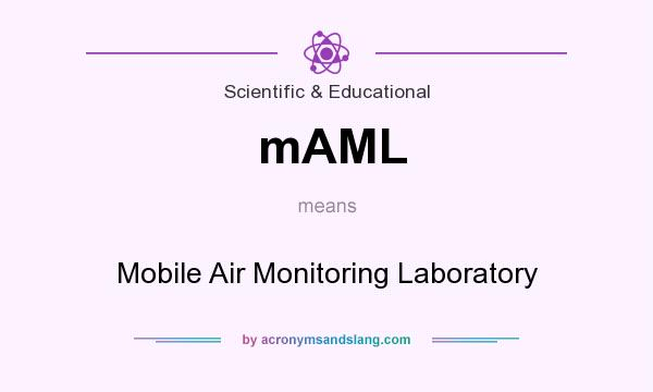 What does mAML mean? It stands for Mobile Air Monitoring Laboratory