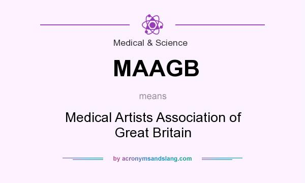 What does MAAGB mean? It stands for Medical Artists Association of Great Britain