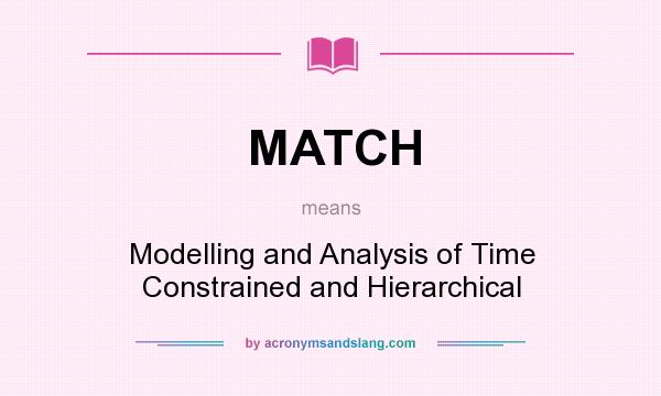 What does MATCH mean? It stands for Modelling and Analysis of Time Constrained and Hierarchical