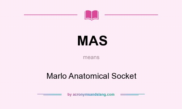 MAS - Marlo Anatomical Socket in Undefined by ...