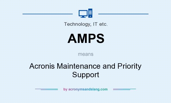 What does AMPS mean? It stands for Acronis Maintenance and Priority Support