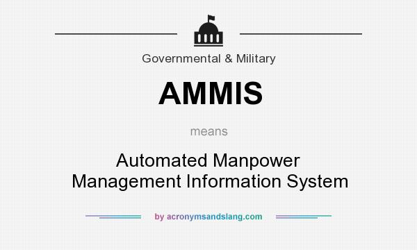 What does AMMIS mean? It stands for Automated Manpower Management Information System