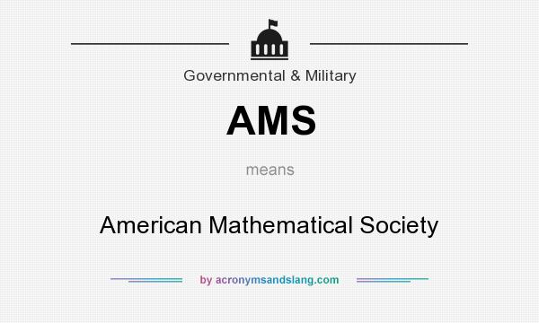 What does AMS mean? It stands for American Mathematical Society