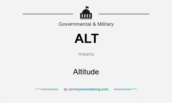What does ALT mean? It stands for Altitude