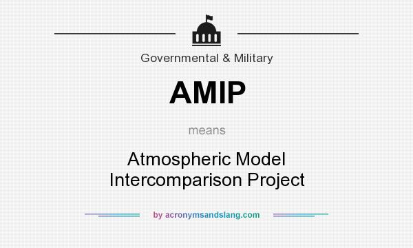 What does AMIP mean? It stands for Atmospheric Model Intercomparison Project