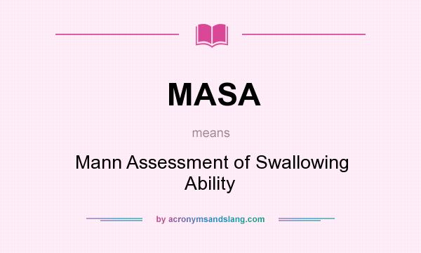 Mann Assessment Of Swallowing Ability In Undefined