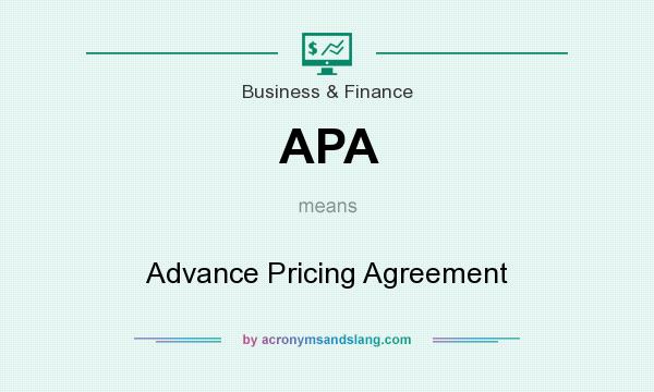 Apa Advance Pricing Agreement In Business Finance By