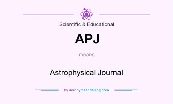 What does APJ mean? It stands for Astrophysical Journal