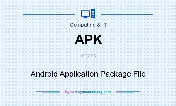 What does APK mean? It stands for Android Application Package File