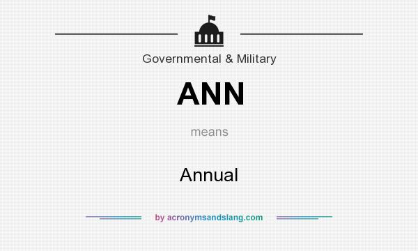 What does ANN mean? It stands for Annual