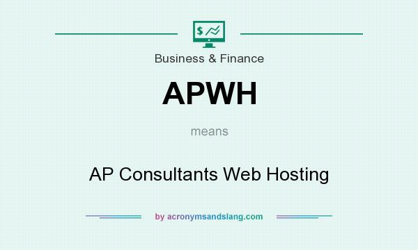 What does APWH mean? It stands for AP Consultants Web Hosting