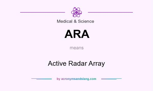 What does ARA mean? It stands for Active Radar Array