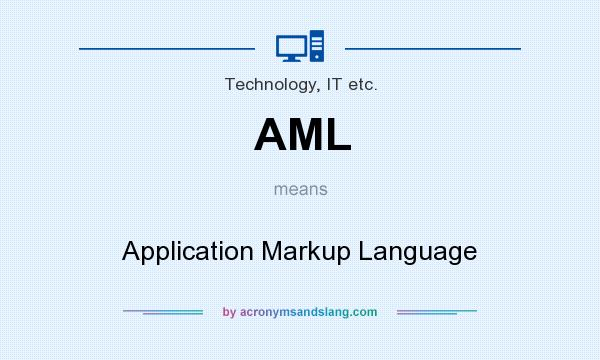 What does AML mean? It stands for Application Markup Language