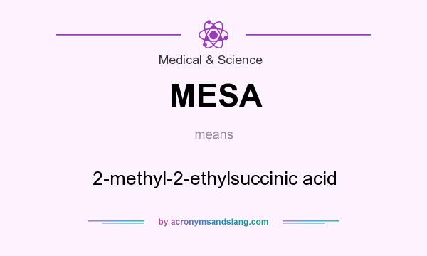 What does MESA mean? It stands for 2-methyl-2-ethylsuccinic acid