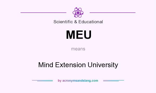 What does MEU mean? It stands for Mind Extension University
